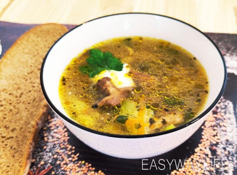 Подготовка грибов и кабачка для супа рис 4