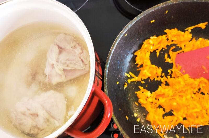 Зажарка и мясо для супа рис 2