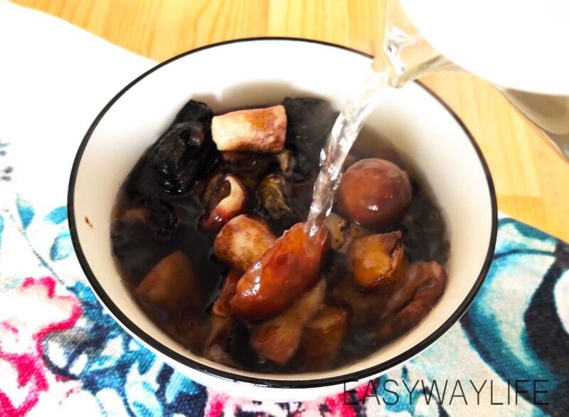 Подготовка грибов и кабачка для супа рис 1