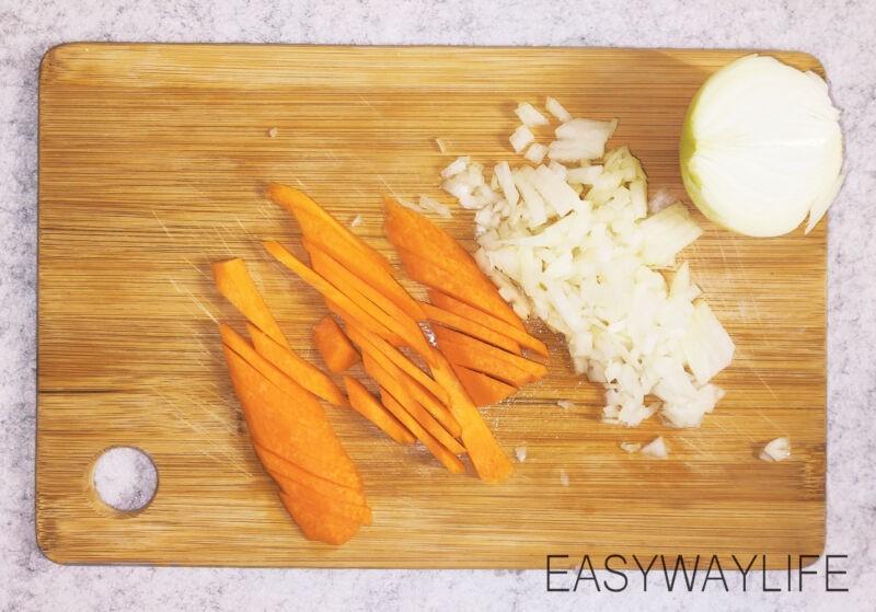 Подготовка овощей и мяса индейки рис 1