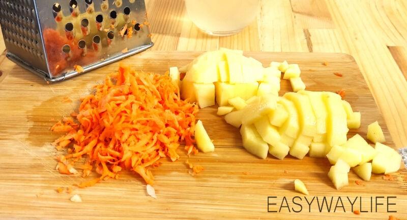 Подготовка мяса и овощей для солянки рис 1