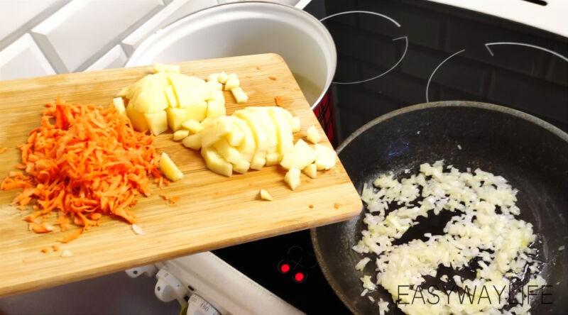 Подготовка мяса и овощей для солянки рис 2