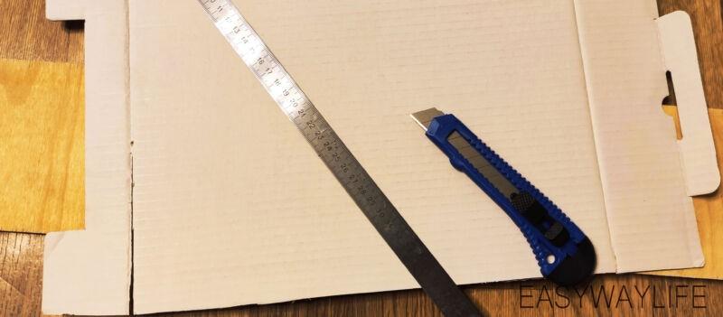 Подготовка деталей для создания органайзера из гофрокартона рис 2