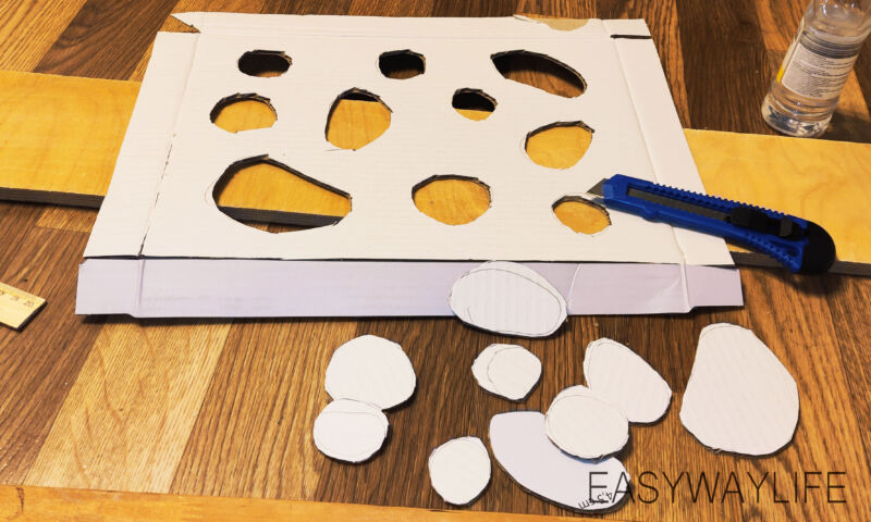 Создание верхней крышки для игрушки из гофрокартона рис 3