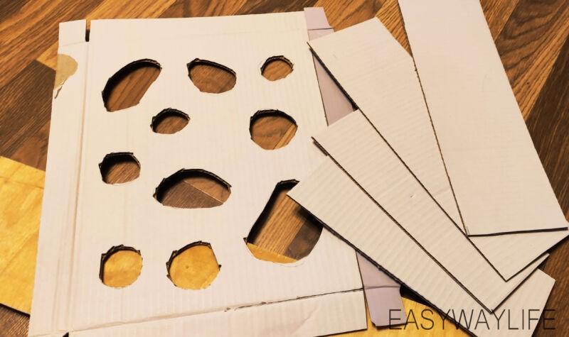 Создание верхней крышки для игрушки из гофрокартона рис 4