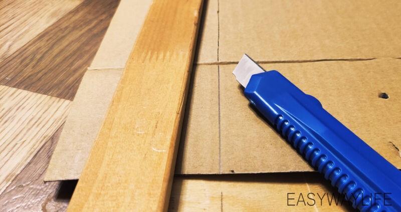 Подготовка деталей для создания органайзера из гофрокартона рис 3