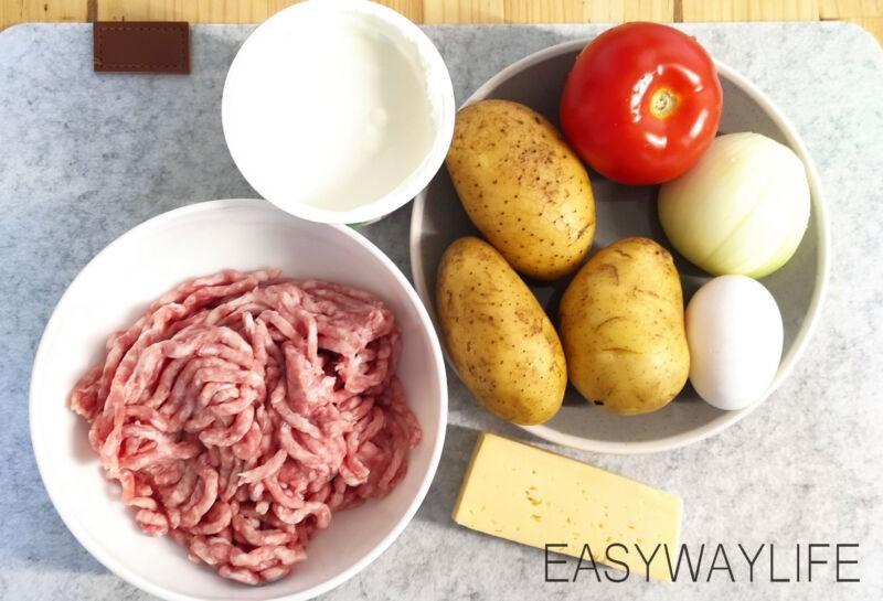 Запеканка из фарша и картофеля в духовке
