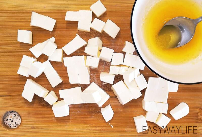 Нарезка продуктов для салата рис 5