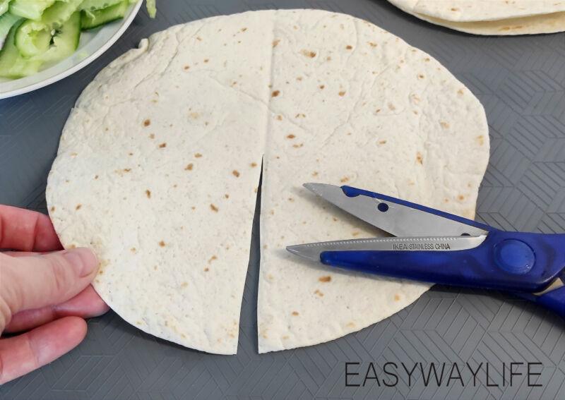 Подготовка продуктов для конвертиков рис 3