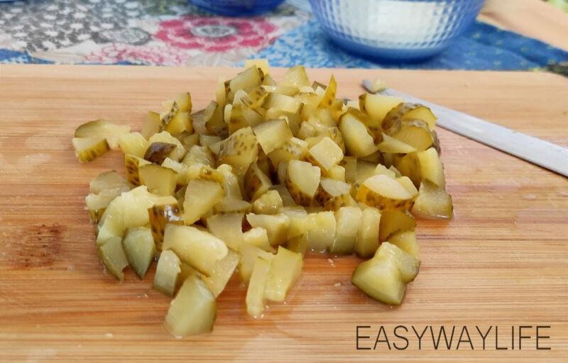 Подготовка продуктов для салата рис 3