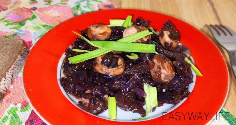 Нарезка овощей и сосисок для тушения рис 5