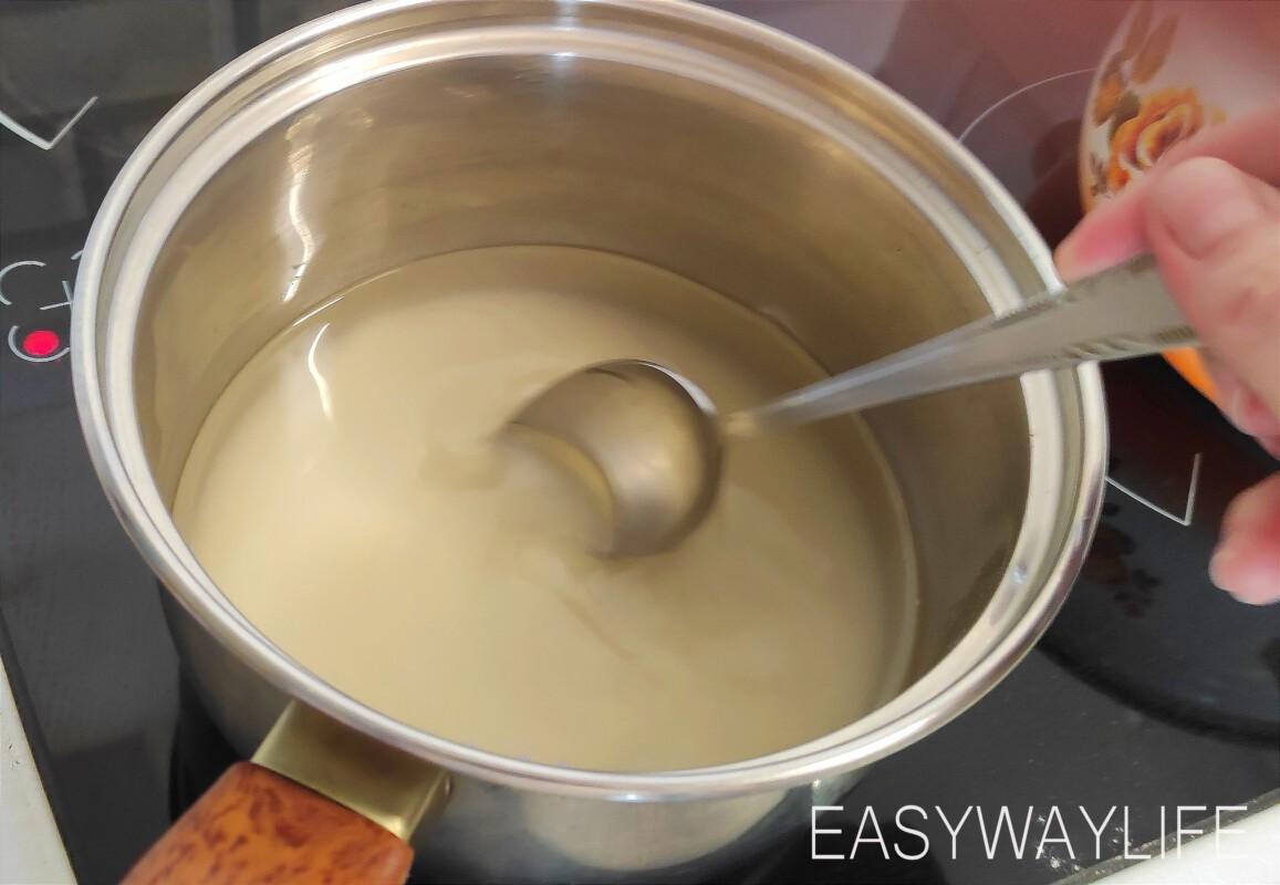 Замешивание теста для басбусы рис 1