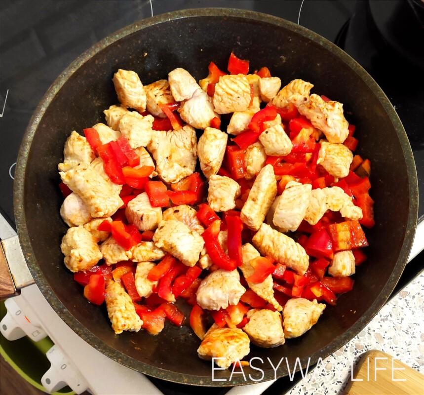 Подготовка продуктов для тушения индейки со шпинатом рис 4