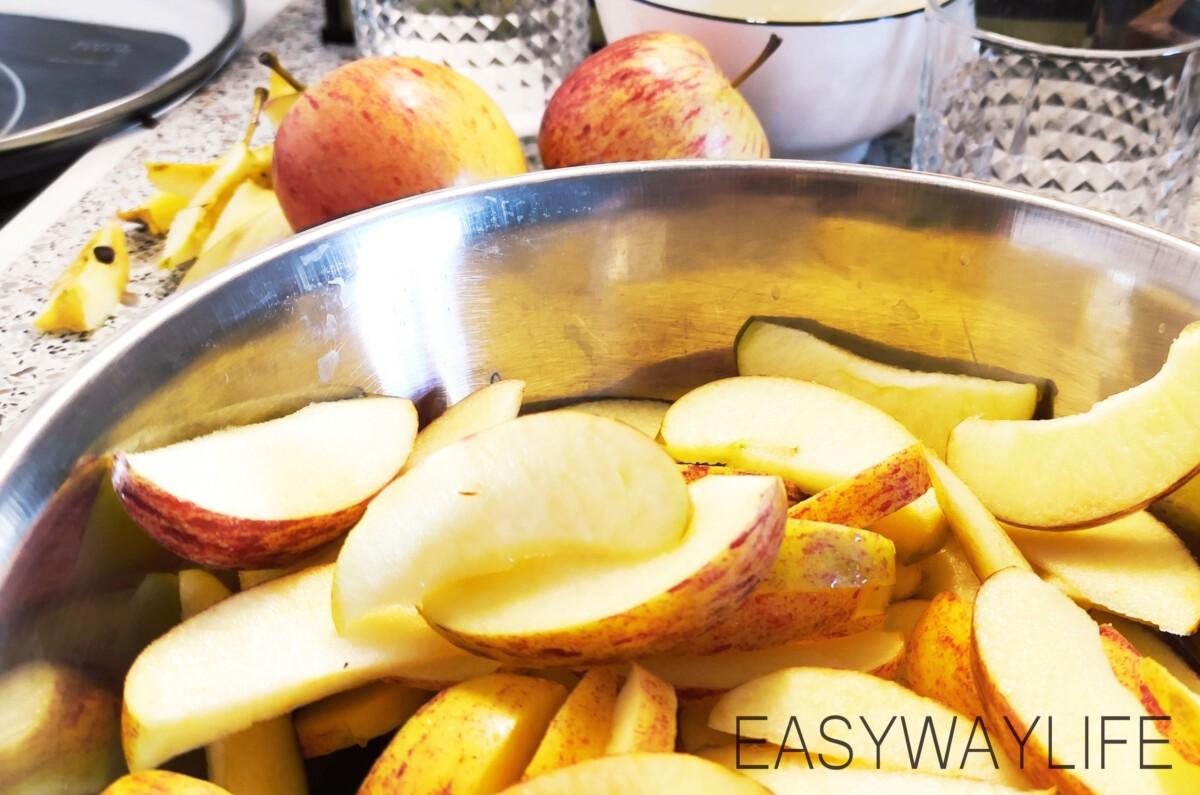 Карамелизирование яблок для пирога рис 1