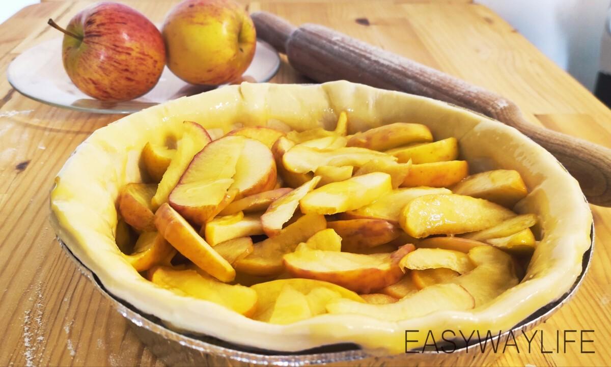 Выпекание пирога с яблоками рис 2