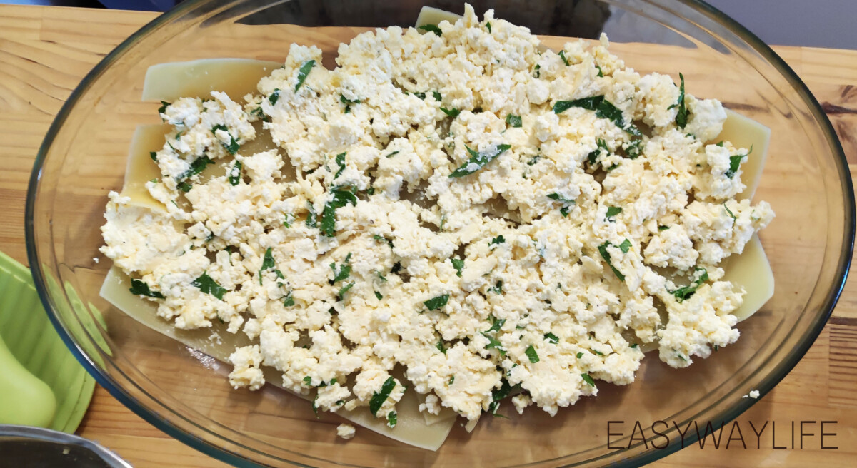 Смешивание продуктов для лазаньи рис 5