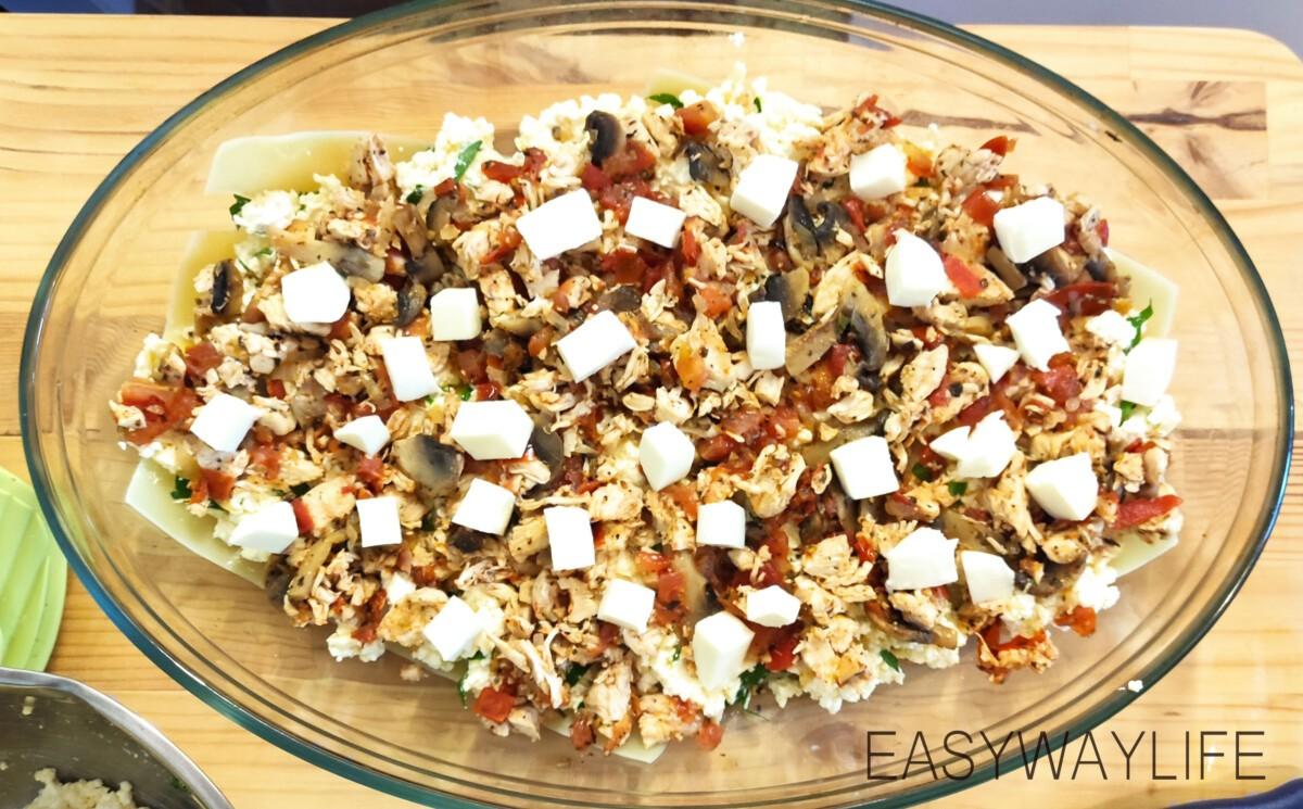 Смешивание продуктов для лазаньи рис 6
