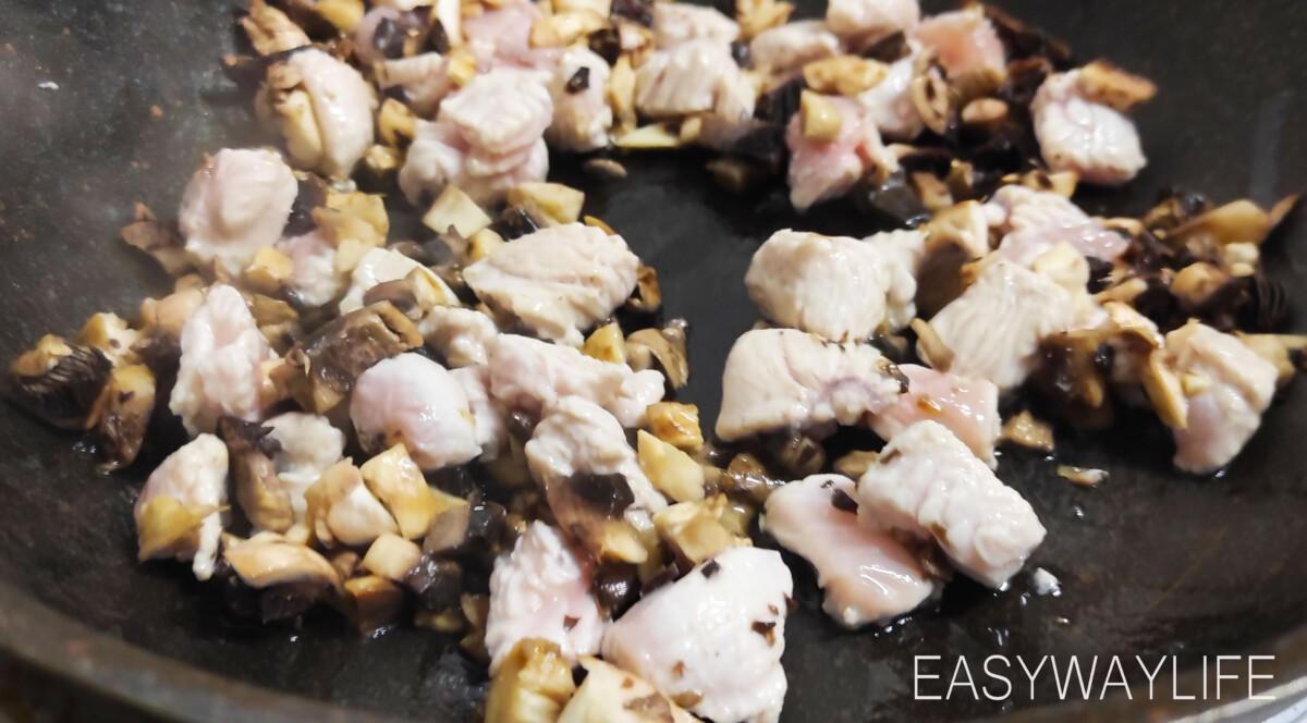 Приготовление начинки для жареных баклажанов рис 3