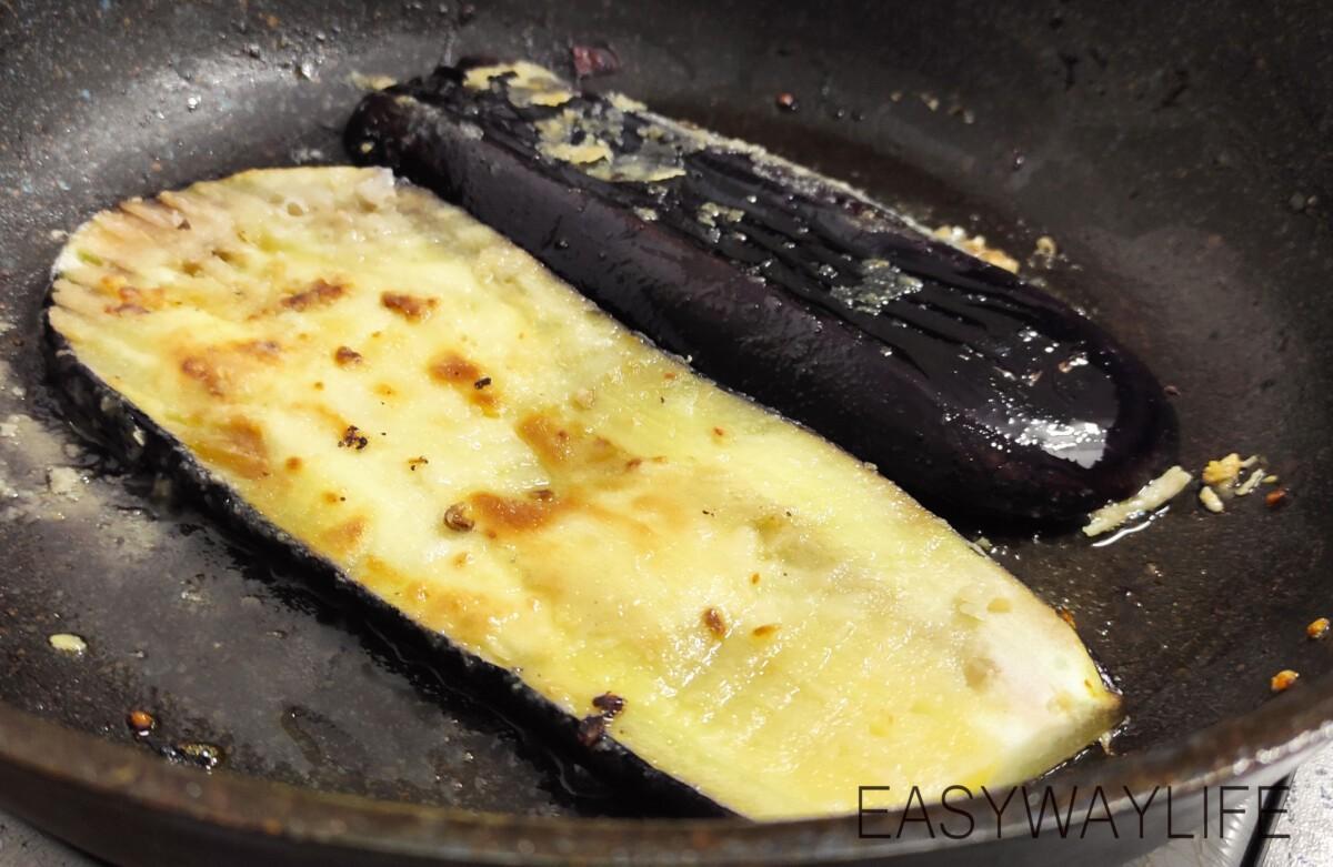Жарка баклажанов и формирование блюда рис 2