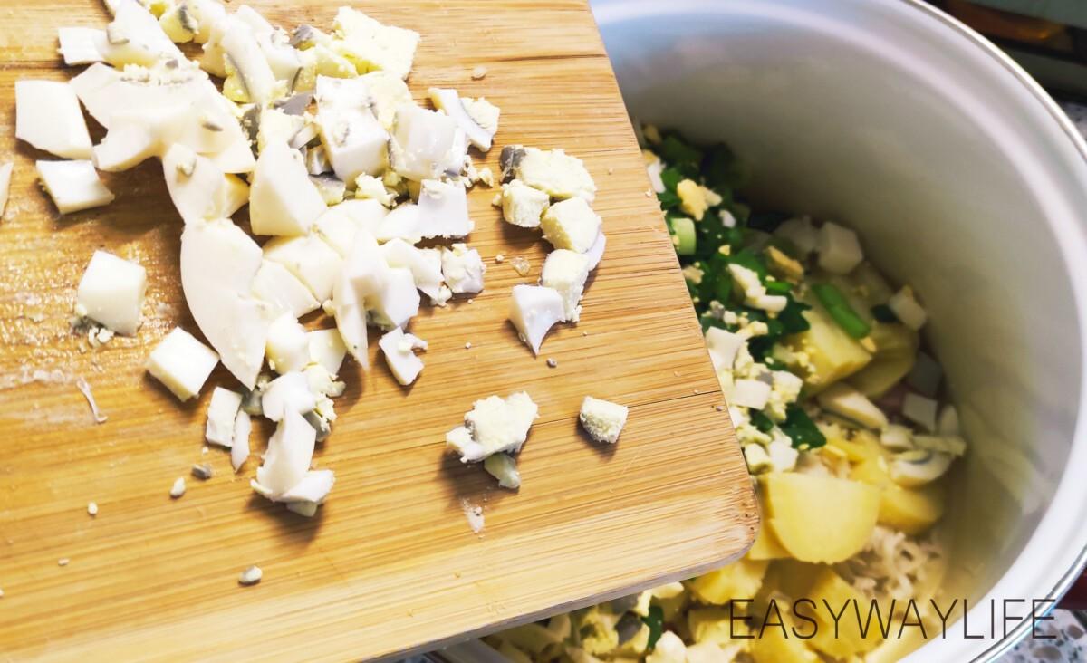 Подготовка продуктов для приготовления окрошки рис 3