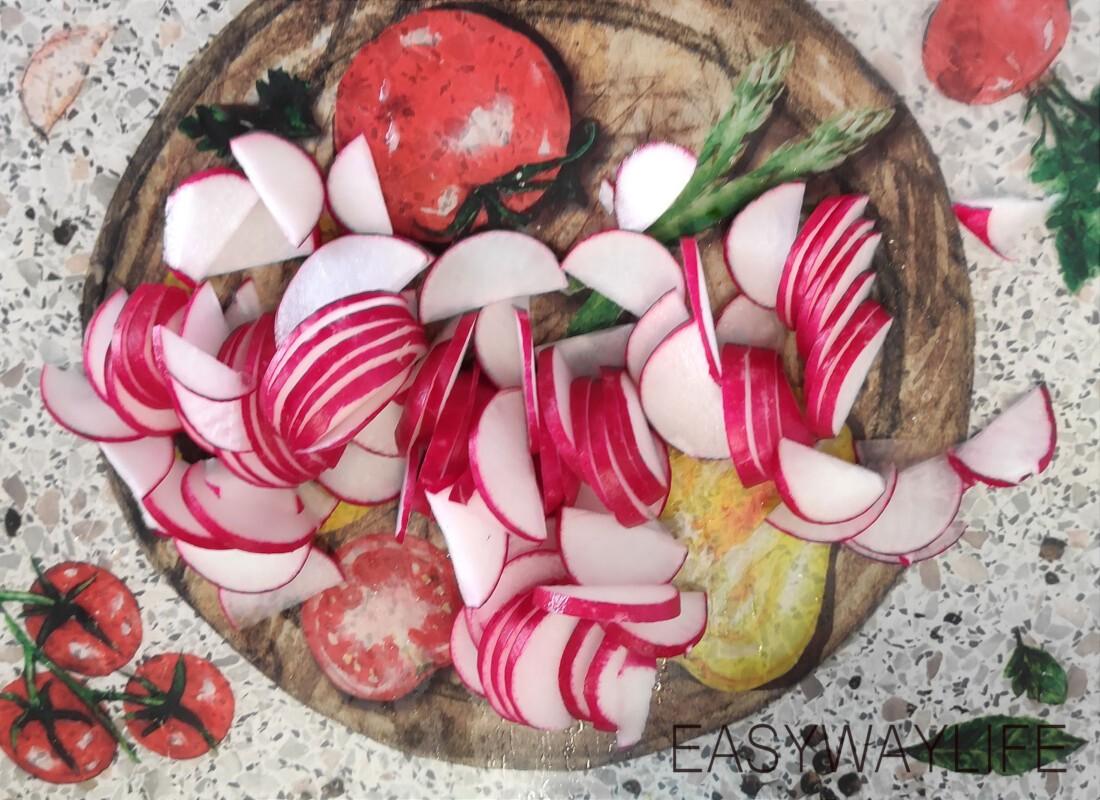 Нарезка овощей для салата рис 2