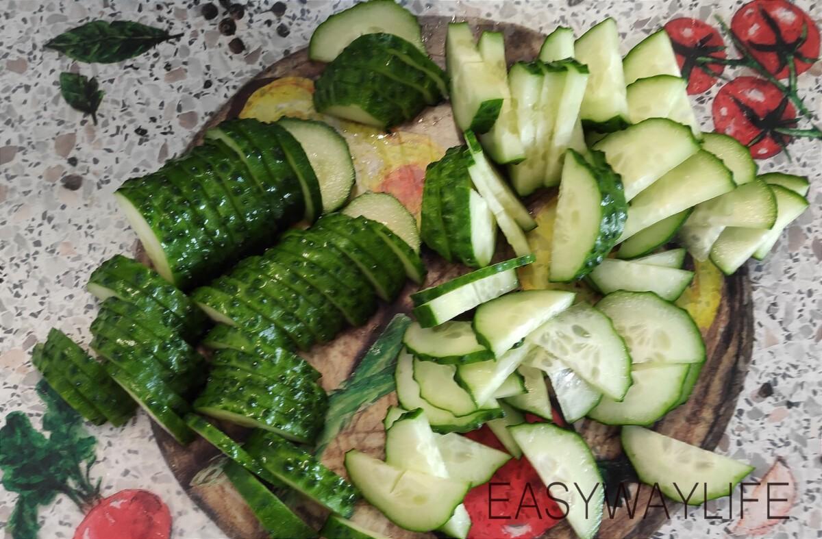 Нарезка овощей для салата рис 3