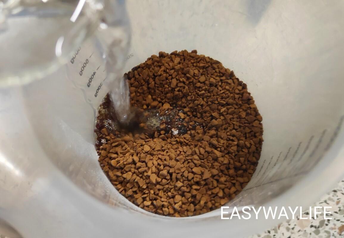 Смешивание основных продуктов для кофейного мусса рис 1