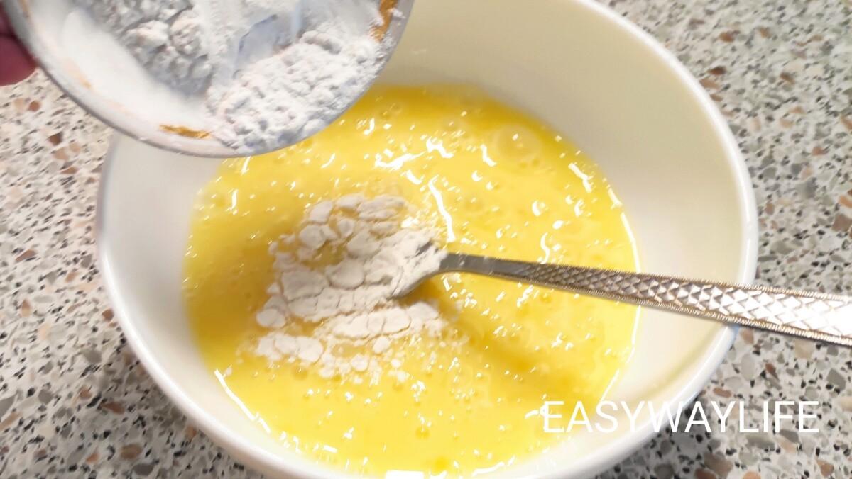 Приготовление блинов для салата рис 1