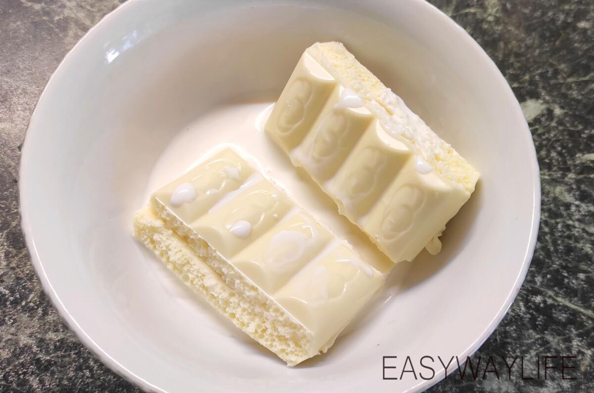 Кремю из белого шоколада для торта смородина рис 2