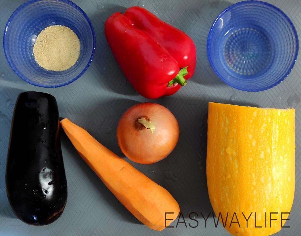 Запечённые овощи в духовке рис 1
