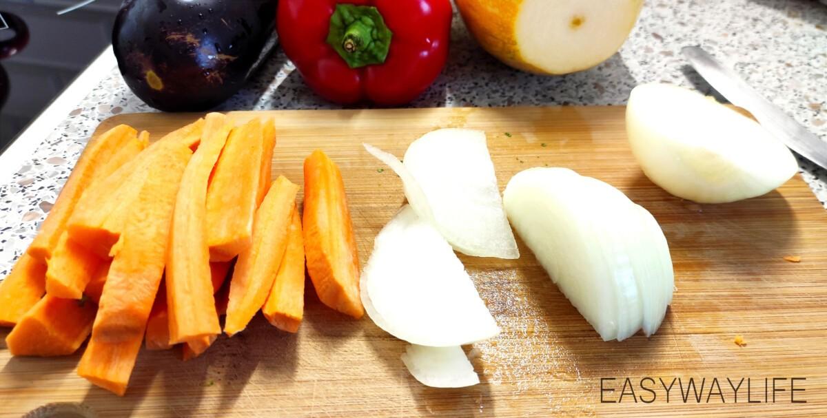 Подготовка и запекание овощей в духовке рис 1