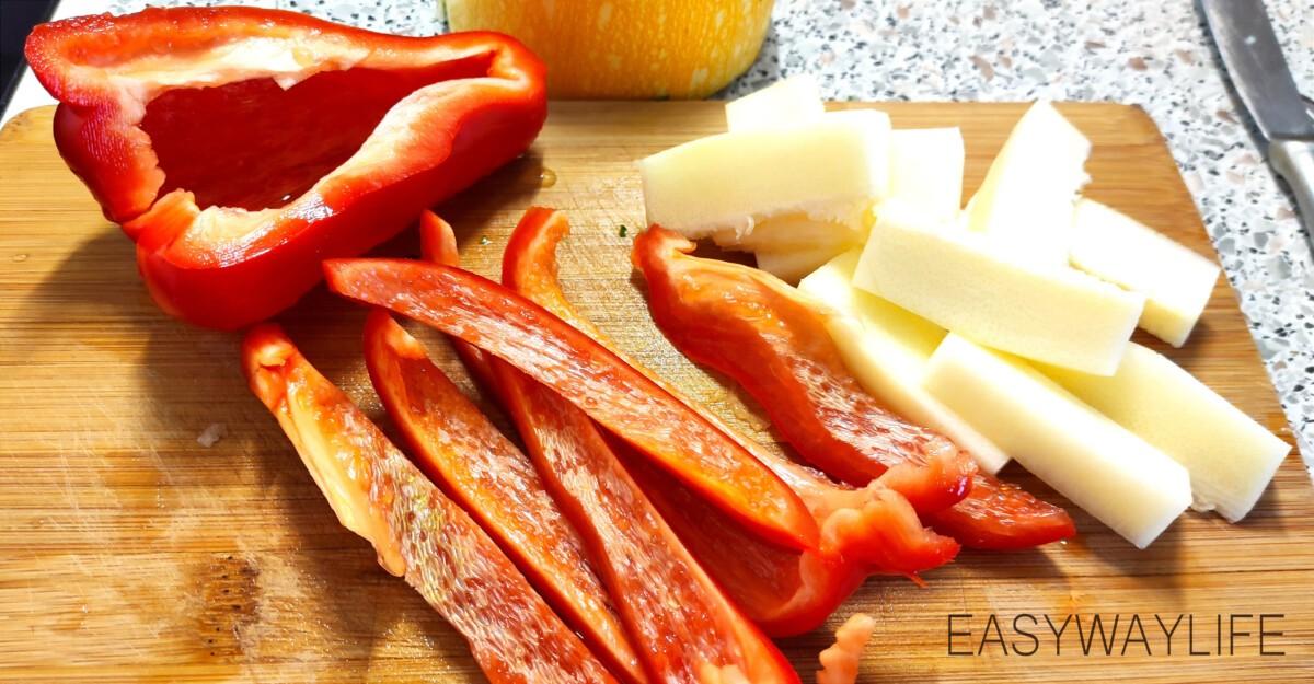Подготовка и запекание овощей в духовке рис 3