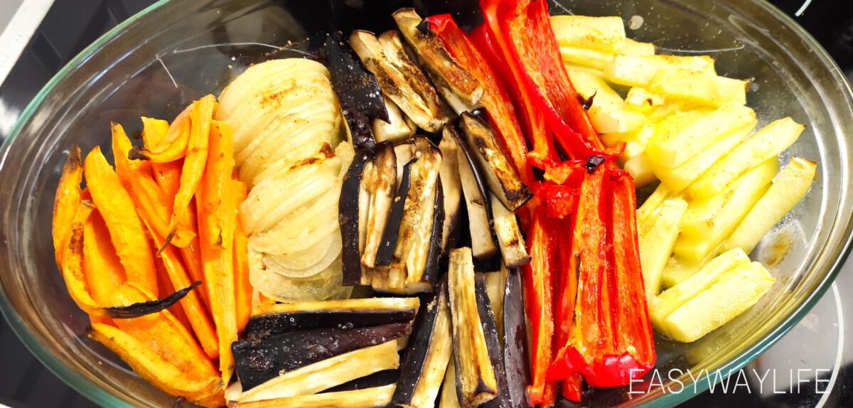 Подготовка и запекание овощей в духовке рис 6