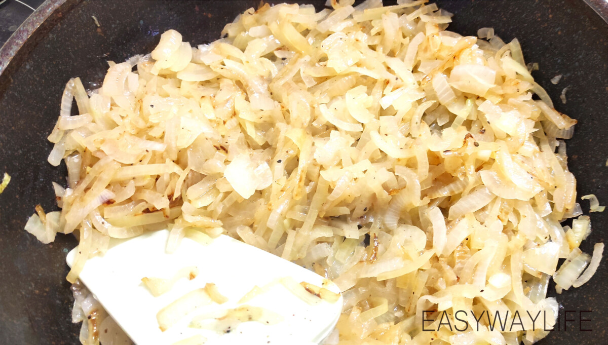 Луковая начинка для заливного пирога рис 2