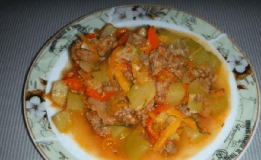 Овощное рагу простое рецепт с пошагово